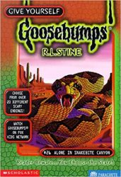 Alone in Snakebite Canyon Goosebumps Books in Order
