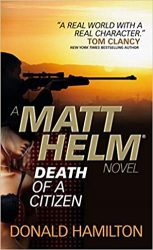 Death of a Citizen Matt Helm Books in Order